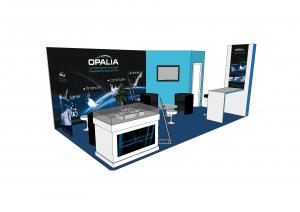 opalia stand 3D modelisation design