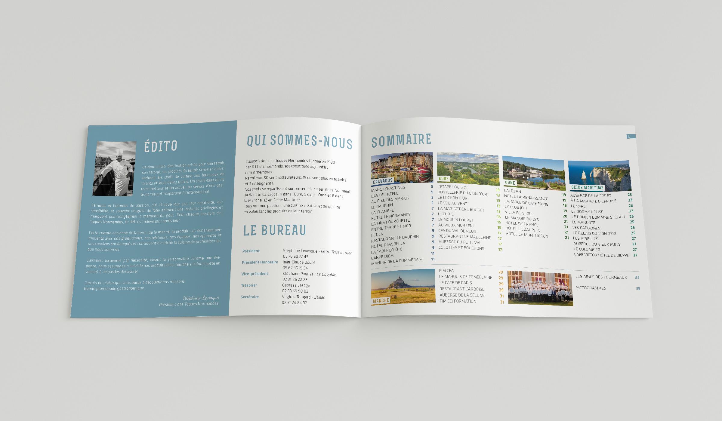 Brochure les Toques Normandes édito et sommaire