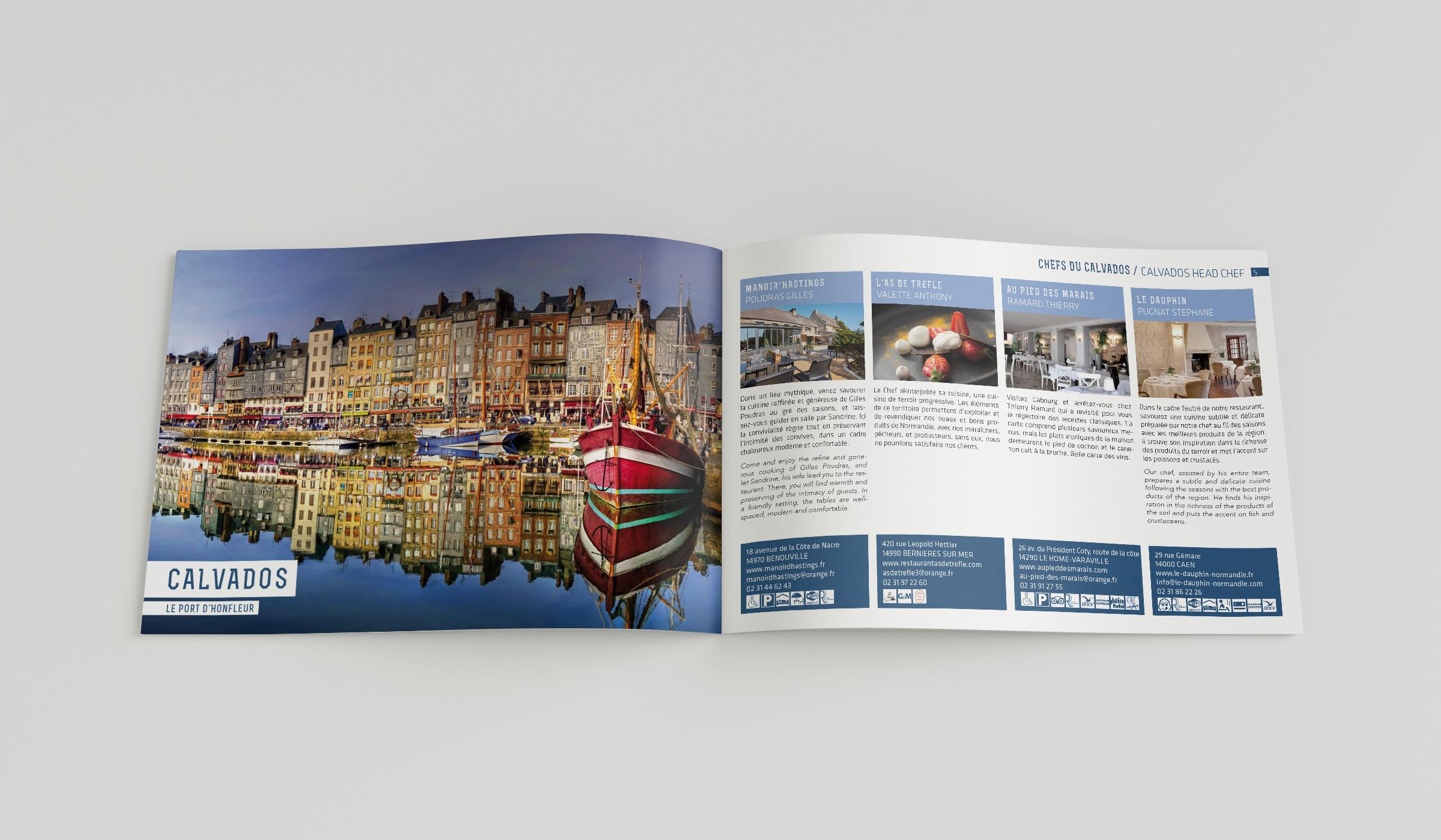 Brochure les Toques Normandes fiches restaurateurs