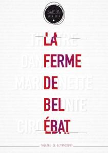 brochure théâtre de guyancourt ferme de bel ebat plaquette création design publicité versalis agence de communication digitale versailles paris web evenementielle