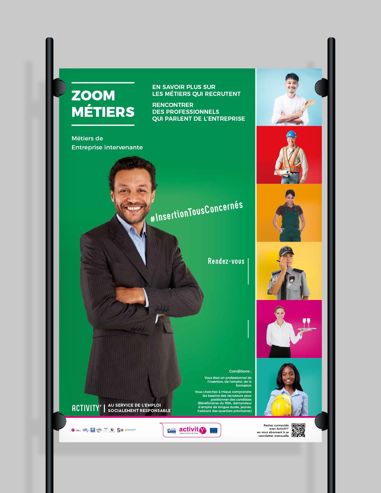 Affiche zoom métier ActivitY'