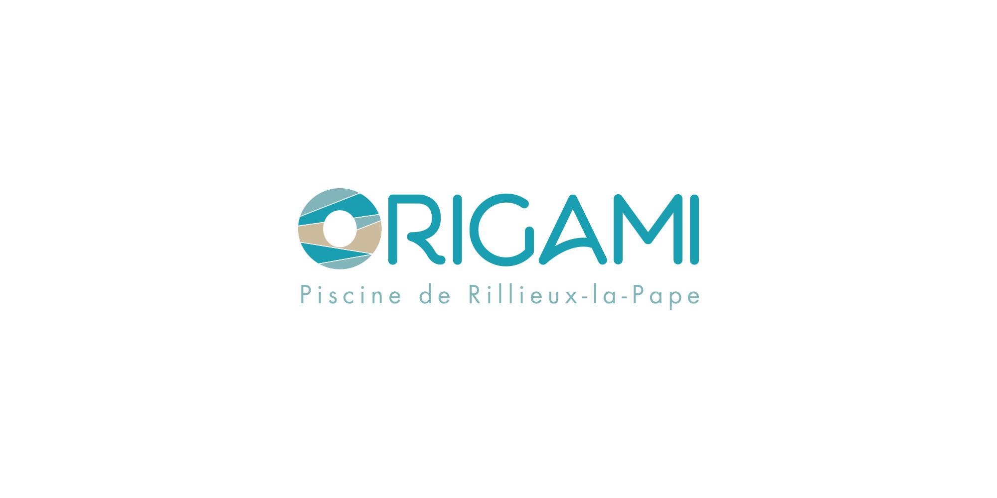 Logo piscine Origami