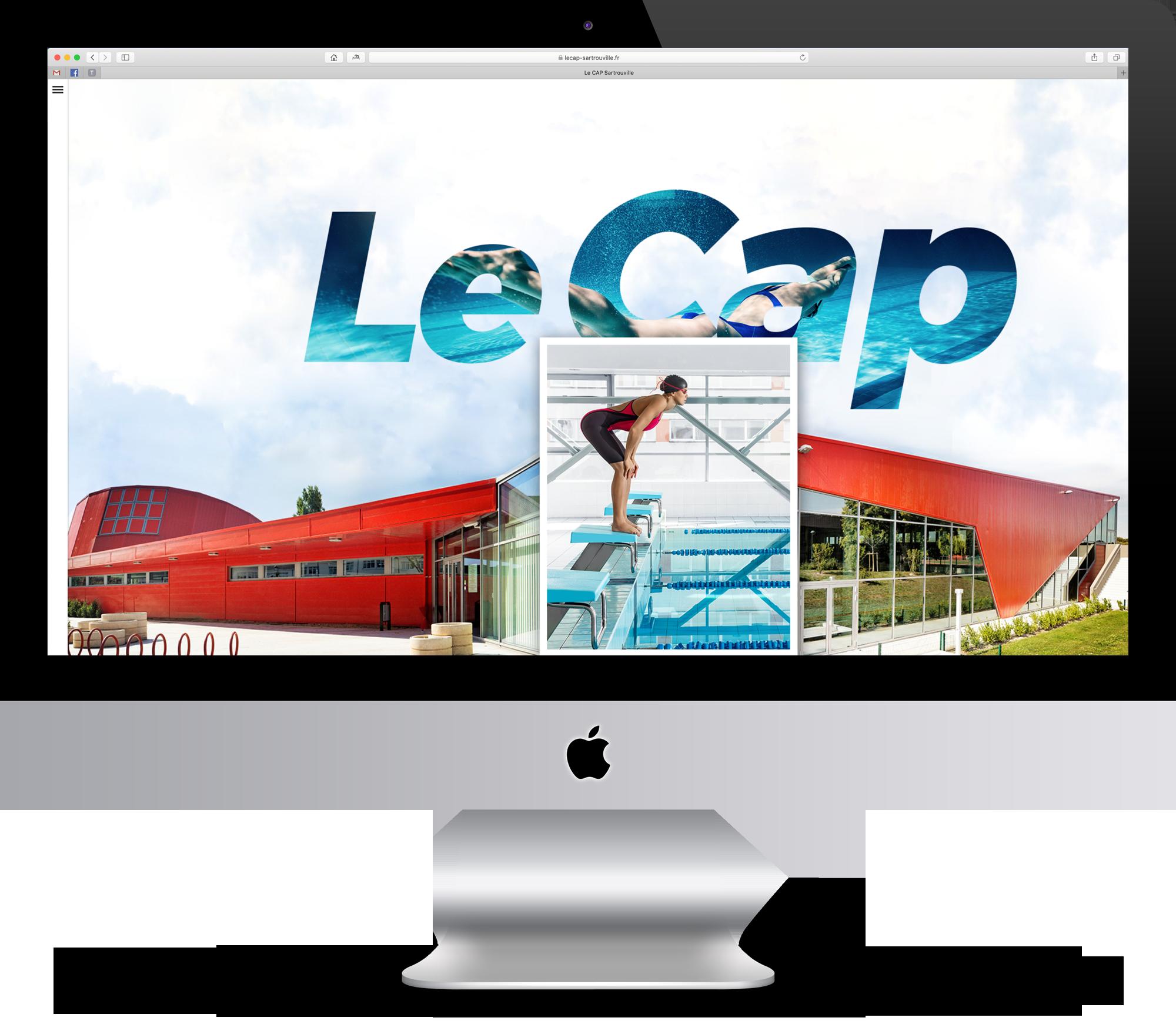 Page d'accueil du site de la piscine le CAP