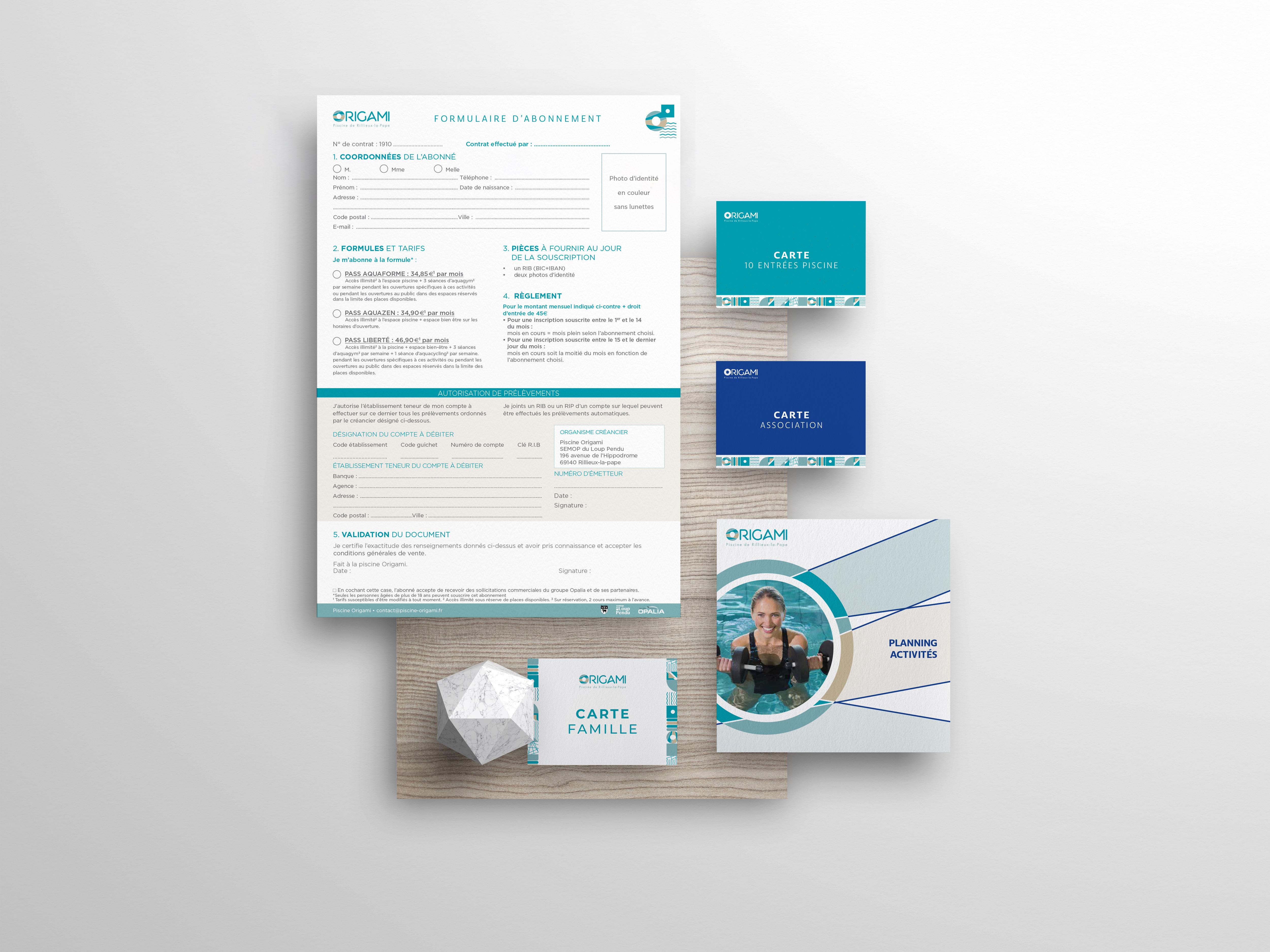 formulaire et carte Origami